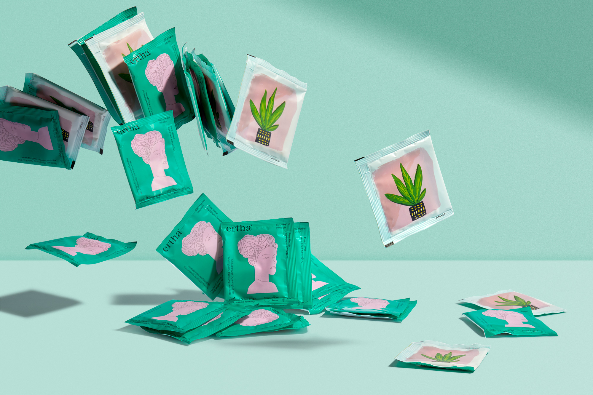 AG Design Agency Ertha CBD Herbal Infusions Branding and Packaging