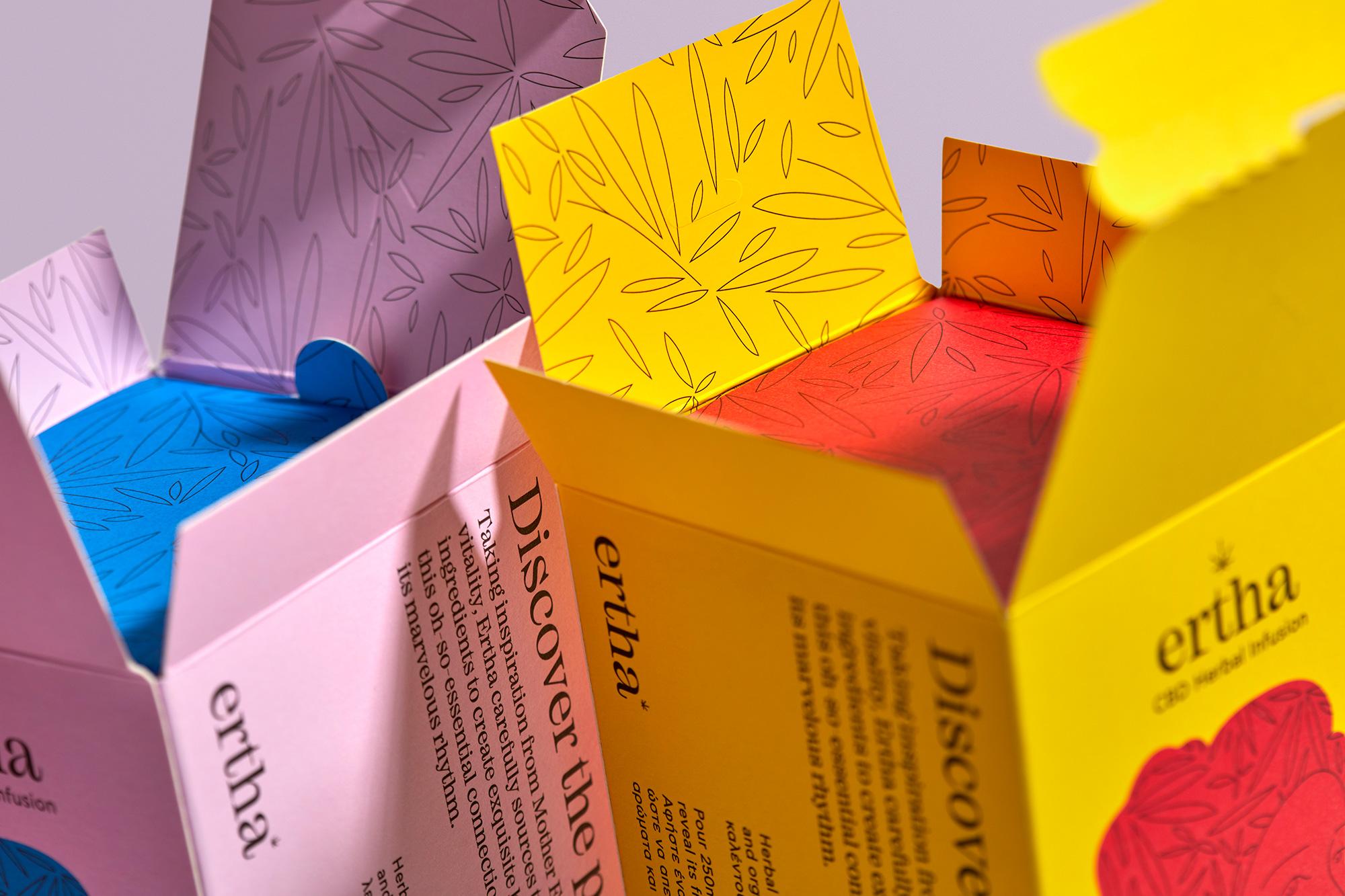 AG Design Agency Ertha CBD Herbal Infusions packaging Branding
