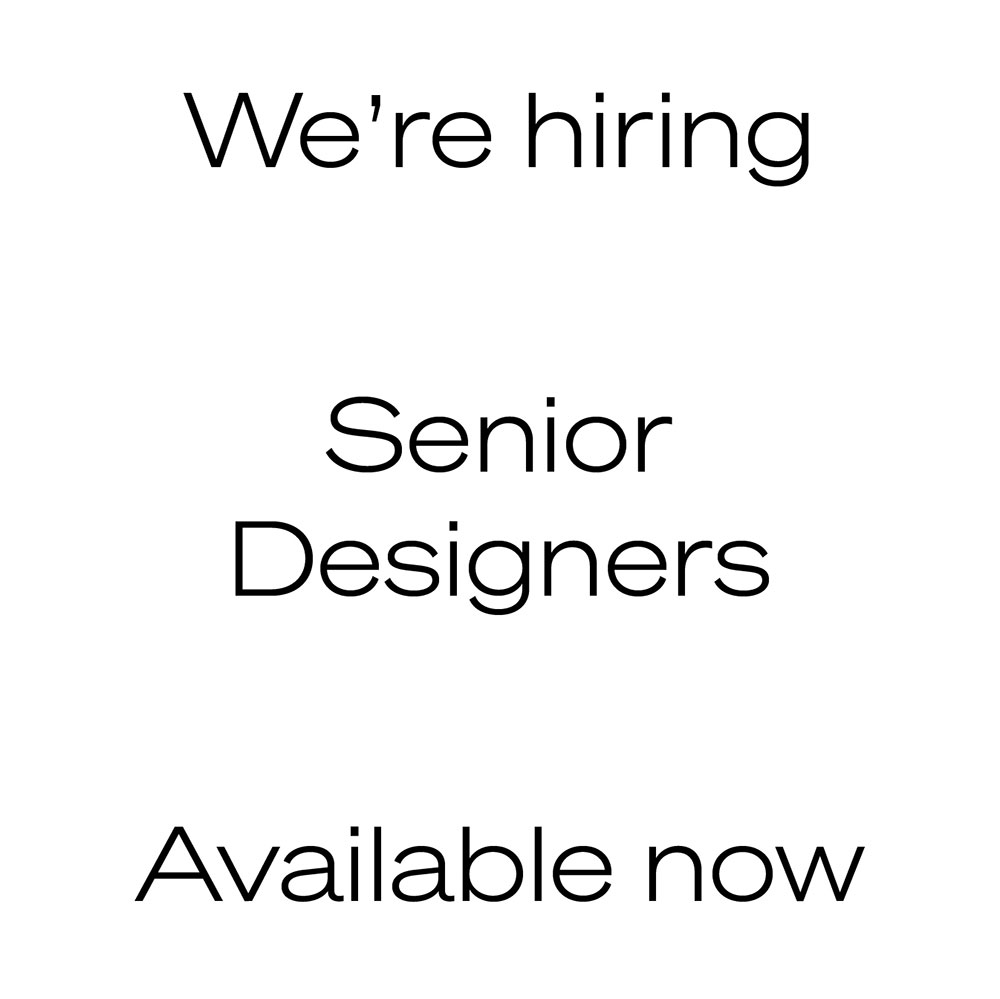AG Design Agency Hiring Senior Designers